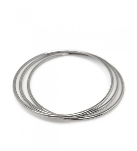 Round Stainless Steel Bangle Bracelets