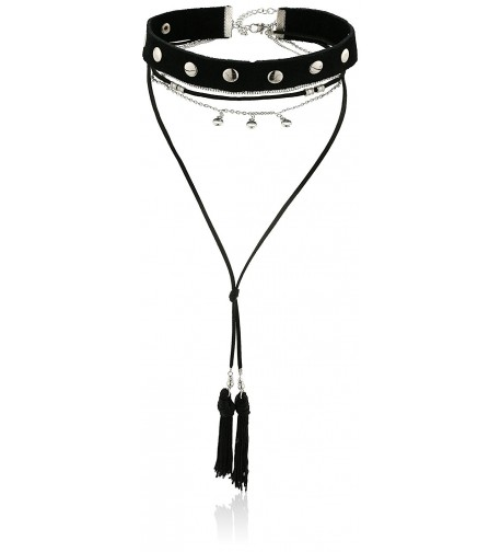 steve madden tassel choker necklace