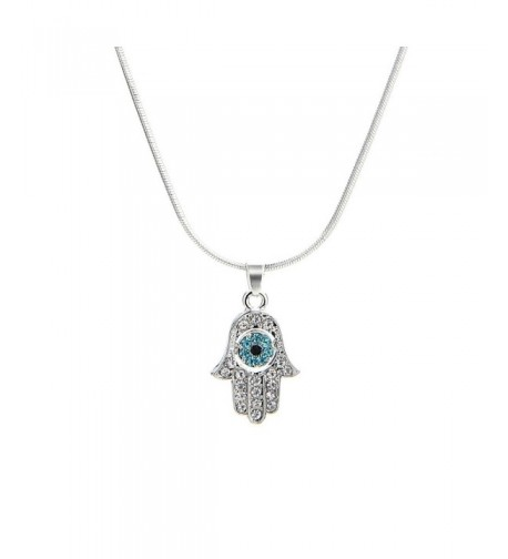 Meiligo Fashion Necklace Rhinestone Protective