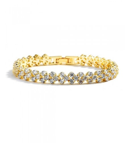 Mariell Plated Wedding Bridal Bracelet