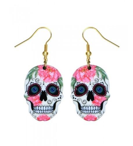 Liavys Sugar Skull Fashionable Earrings