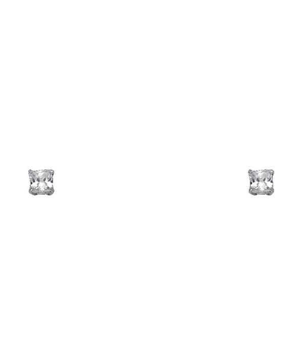 Princess Solitaire Basket set Earrings Screwback