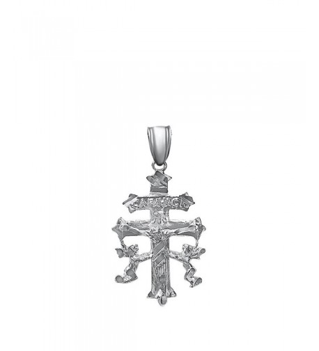 Sterling Silver Crucifix Caravaca Pendant