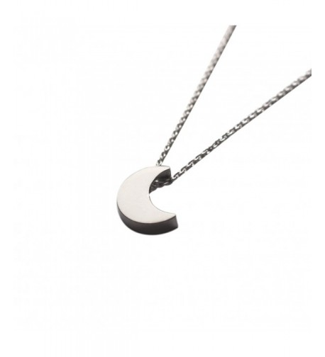 Freena Design Silver Crescent Necklace