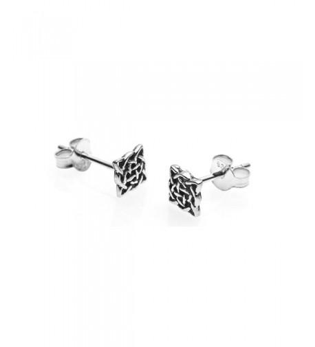 Sterling Silver Square Celtic Earrings