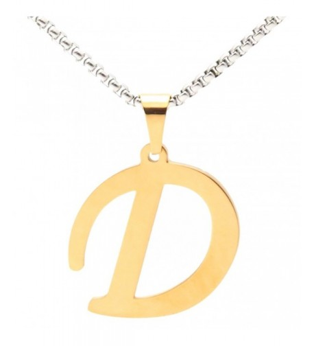 Necklace Letter Titanium Pendant Stainless