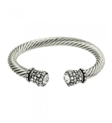 Crystal Rhinestone Cable Bracelet B0323 CR