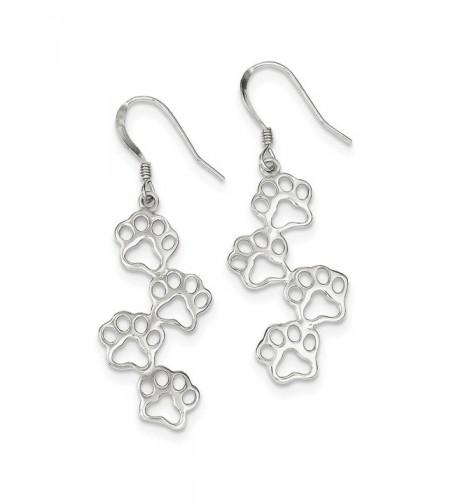 Sterling Silver Prints Dangle Earrings
