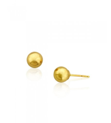 14k 6m Ball Stud Earrings