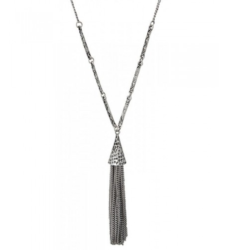 Tassel Hammered Necklace SPUNKYsoul Collection
