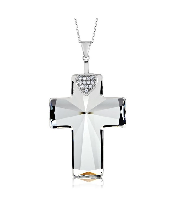 Sterling Pendant Necklace Swarovski Crystals