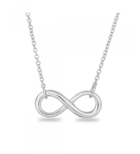 Rhodium Sterling Classic Infinity Necklace