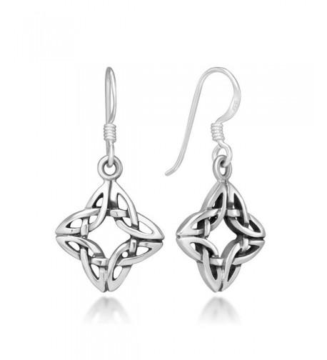 Sterling Silver Square 4 Side Earrings
