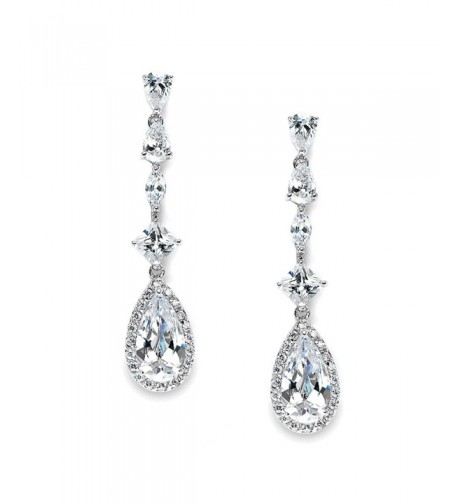 Mariell Teardrop Earrings Wedding Pageant
