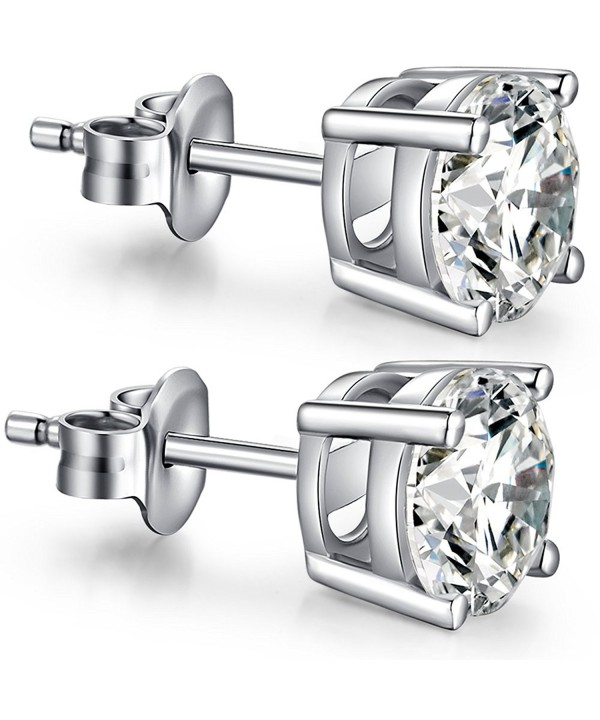 Sterling Princess Simulated Earrings Zirconia