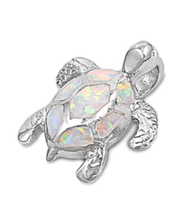 Turtle Sterling Silver Pendant Necklace