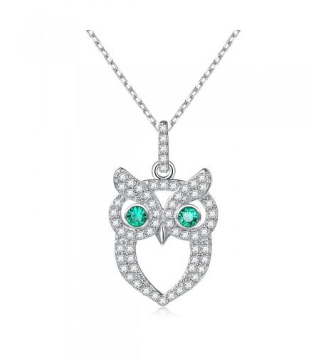 Necklace Sterling Silver Zirconia Pendant