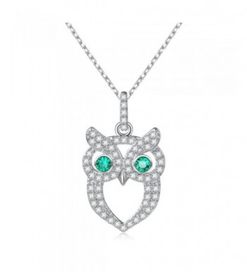 Necklace Sterling Silver Zirconia Pendant