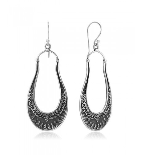 Oxidized Sterling Delicated Filigree Earrings