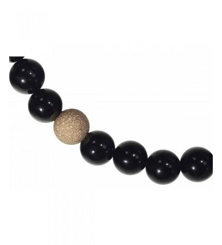 Black Tourmaline Stretch Bracelet Sparkle