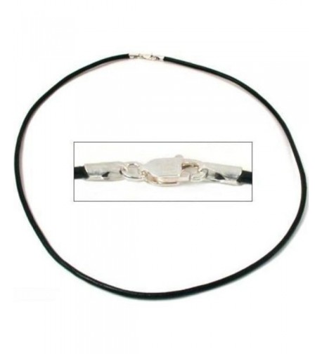 Leather Cord Necklace Black 16