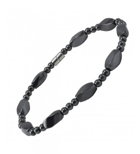 Magnetic Twisted Simulated Hematite Bracelet