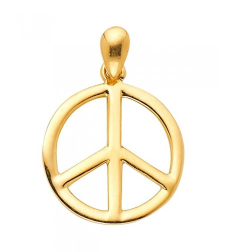 Yellow Gold Peace Charm Pendant