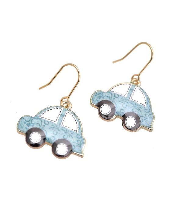 Spinningdaisy Folk Colorful Beetle earrings