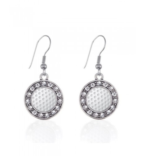 Lovers Circle Earrings Crystal Rhinestones