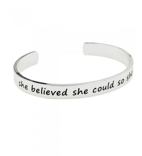 Engraved Bangle believed Bracelet Silver