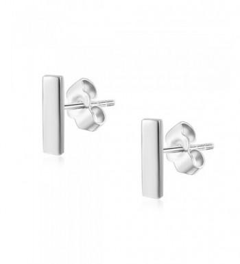 Womens Sterling Silver Push Back Earrings