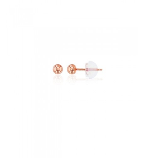 Rose Gold Ball Stud Earring