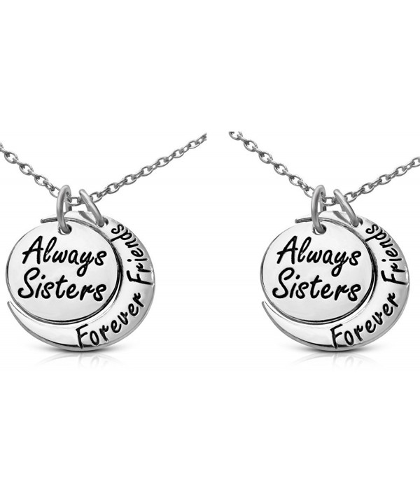 Sisters Forever Friends Inscribed Necklace