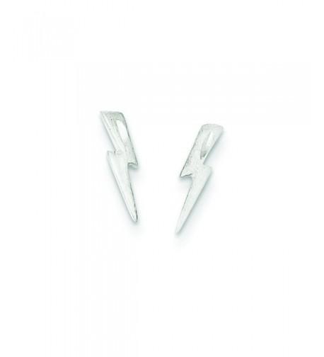 Sterling Silver Lightning Bolt Earrings