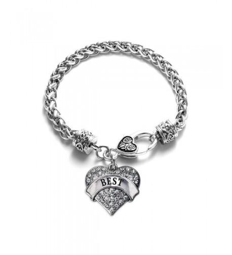 Friends Classic Silver Crystal Bracelet