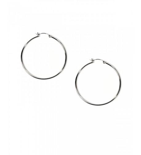 Medium Sterling Silver Circle Earrings