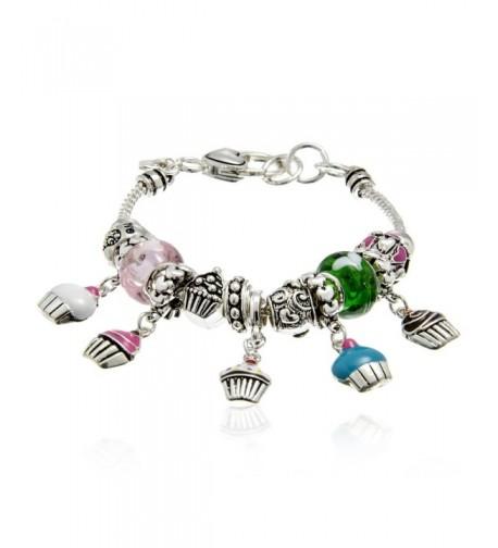 PammyJ Designer Style Cupcake Bracelet