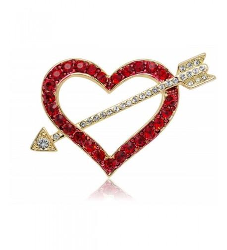 Akianna Gold tone Swarovski Crystals Valentine