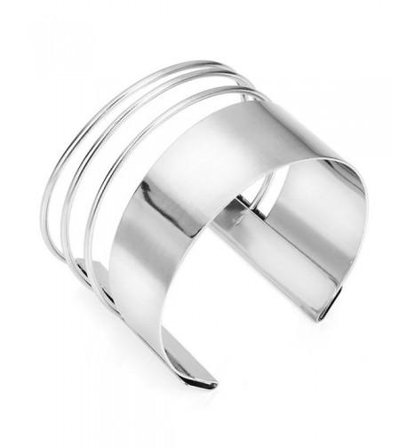 MXYZB Stainless Smooth Hollow Bracelet