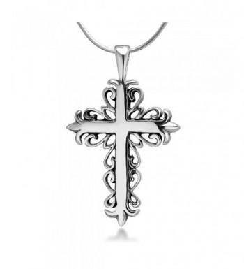 Oxidized Sterling Filigree Pendant Necklace