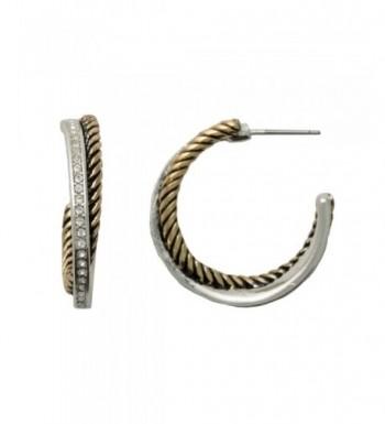 Hypoallergenic Two Tone Post Earrings Sensitive