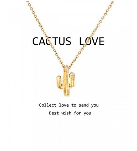 Hanloud Cactus Pendant Necklace Saguaro