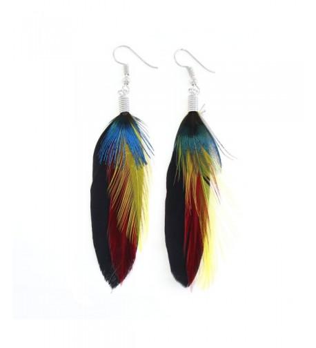 KISSPAT Peacock Handmade Dangling Earrings