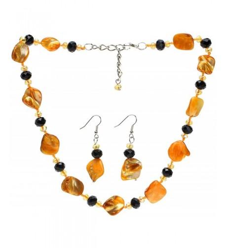 Lova Jewelry Necklace Earrings Yellow
