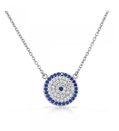 Sterling Silver Womens Pendant Necklace