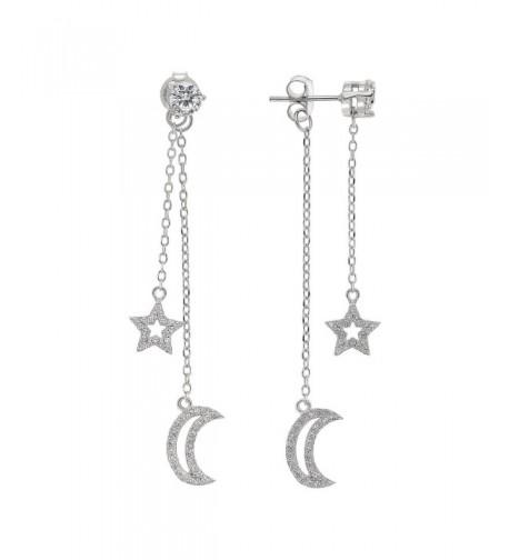 Sterling Silver Solitaire Dangle Earrings