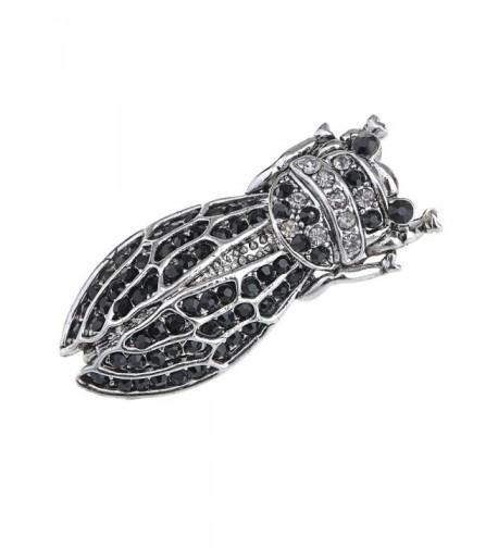 Alilang Silvery Rhinestones Cicada Insect