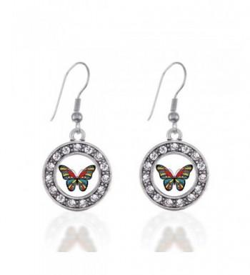 Awareness Butterfly Earrings Crystal Rhinestones