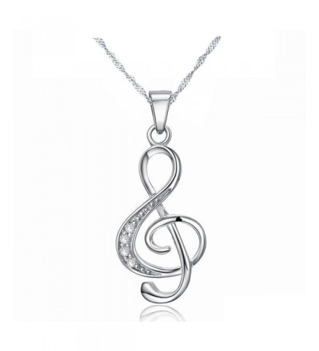 Sterling Silver Zirconia Pendants Necklaces