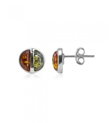 Multicolor Sterling Silver Modern Earrings